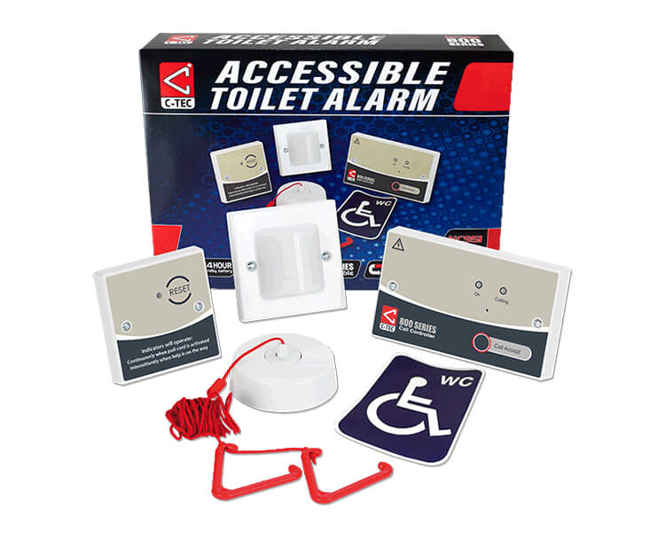 A disabled refuge toilet alarm system
