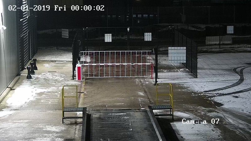 CCTV footage of the external areas of a site using one of our CCTV systems