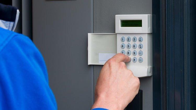 NSI gold intruder alarm system keypad