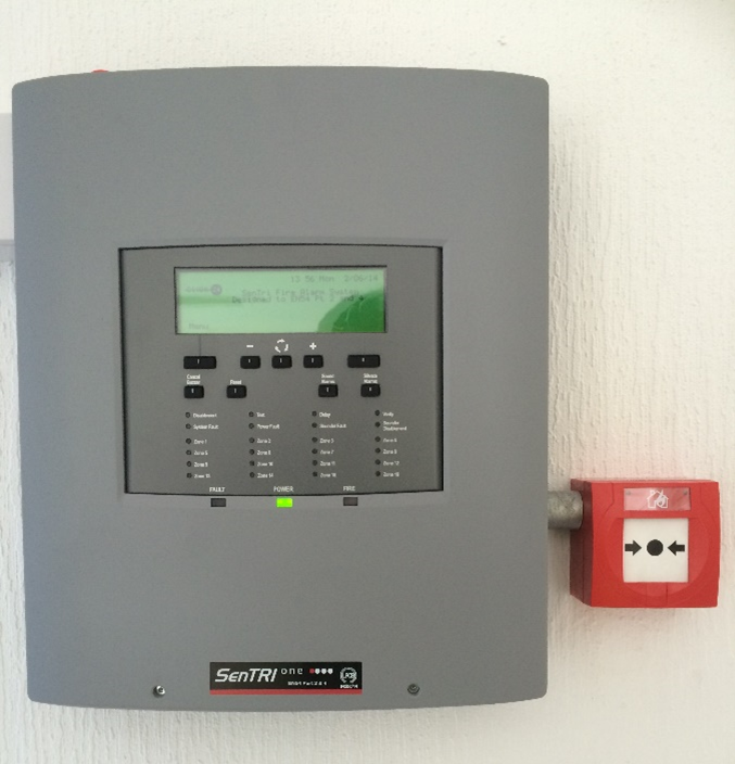 A fire alarm system fitted by Click 24's engineers