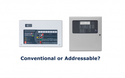 What is the difference between a Conventional and Addressable Fire Alarm System?
