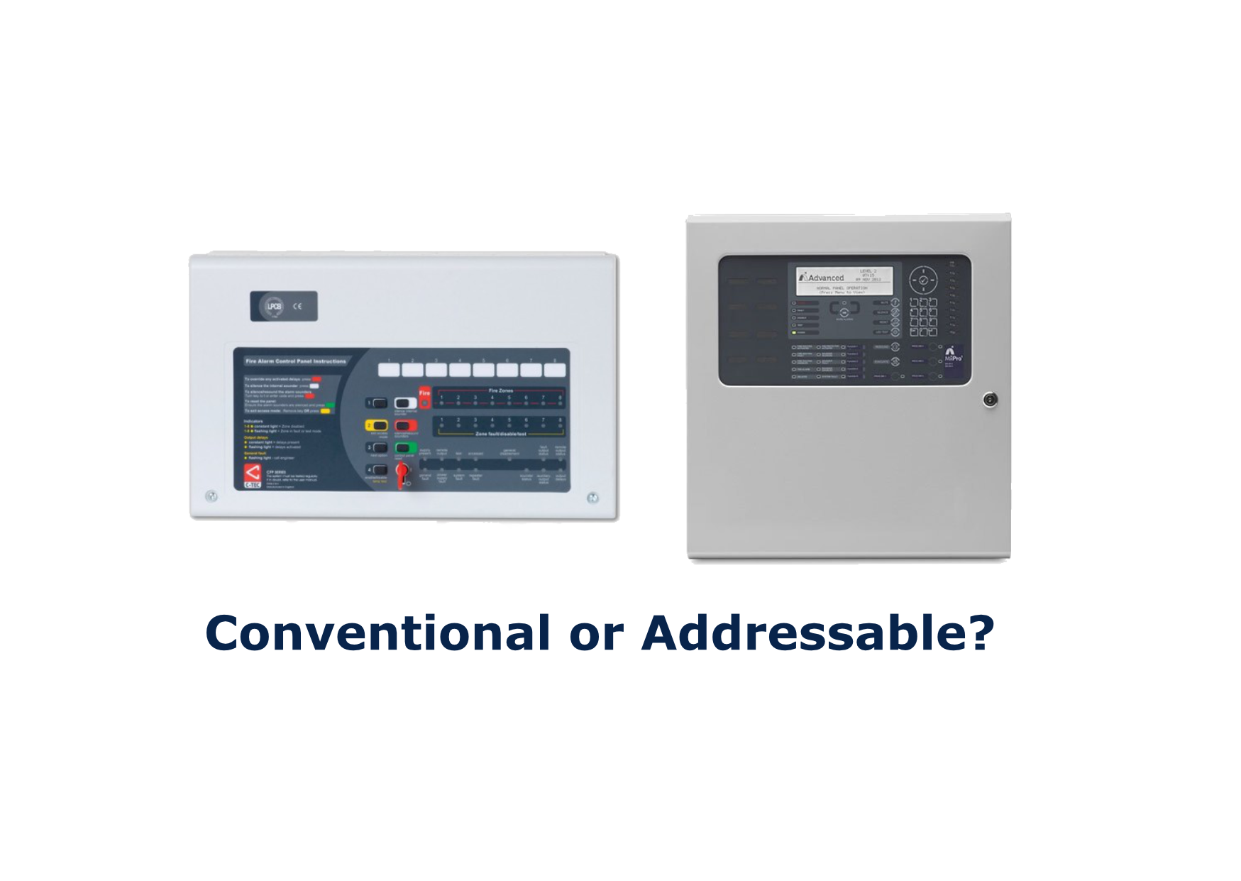 addressable and conventional fire alarm panels