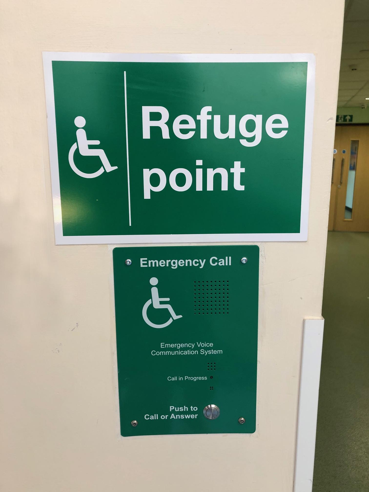 Disabled Refuge point